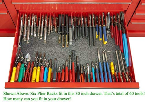 MLTOOLS Pliers Cutters Organizer Pro - Made in USA - Pliers Rack - P8248 x 1