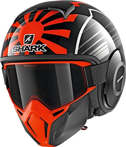 Shark Casco Jet Drak Street Replica Zarco Malaysian GP negro naranja antracita KOA talla S