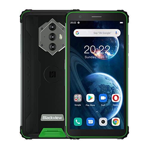 Blackview BV6600 Smartphone, Rugged Smartphone 2021, 8580mAh Android 10 Cellulare 5,7 Pollici HD+ 4GB RAM+64GB ROM 128GB Camera 8MP+16MP 4G Telefono Antiurto, Dual SIM, IP68 GPS NFC OTG (verde)