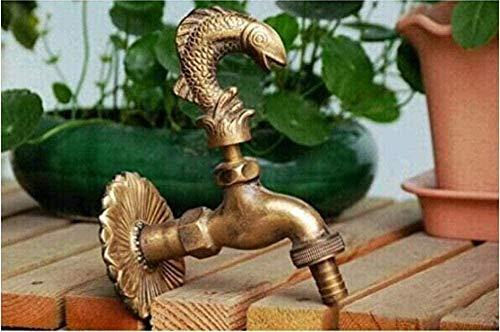 BEISUOSIBYW Co.,Ltd Grifo de jardín Grifo Decorativo de Campo al Aire Libre Grifo de jardín con Forma de Animal con Pico de Bronce Antiguo para Lavar el jardín