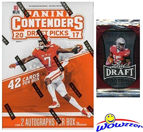 2017 Panini Contenders NFL Football Draft Picks EXCLUSIVE Factory Sealed Retail Box with TWO(2)...