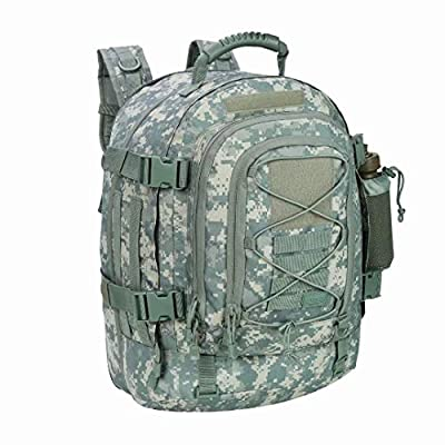 Military Expandable Travel Backpack Tactical Waterproof Work Backpack for Men(ACU)