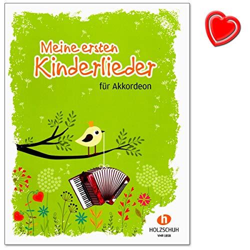 Mis primeros canciones para niños – 27 canciones para la educación inicial en el acordeón – libro de partituras con colorido clip en forma de corazón