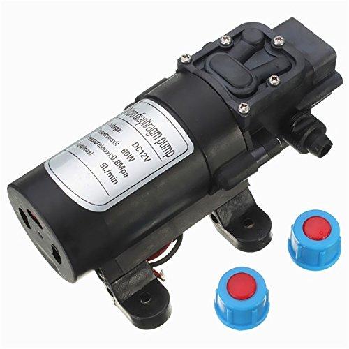 MASUNN DC 24V 60W 5L/Min Motor Hochdruck Mikro Membran Wasser Selbstansaugende Pumpe