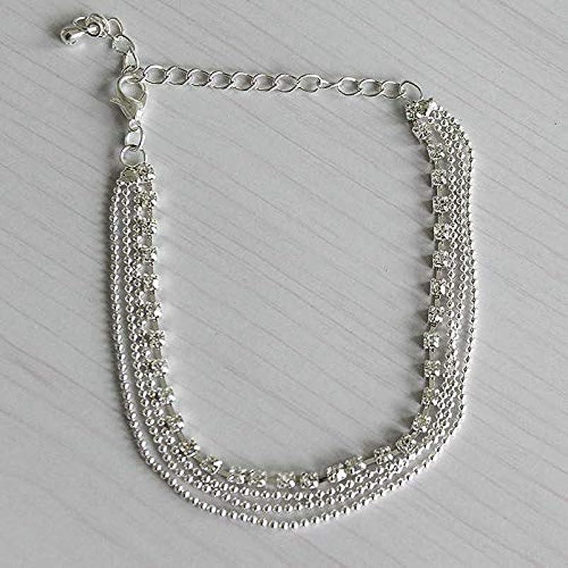 Women Silver Crystal Rhinestone Beads Ankle Bracelets Anklet Foot Chain Jewelry bnelykaz627419