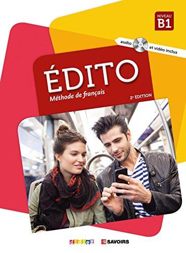 Edito B1 Livre + CD mp3 + dvd: Livre de l'ele + DVD-Rom + livre numerique