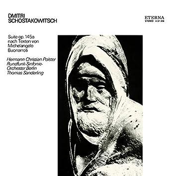 Schostakowitsch: Suite, Op. 145a nach Texten von Michelangelo Buonarroti