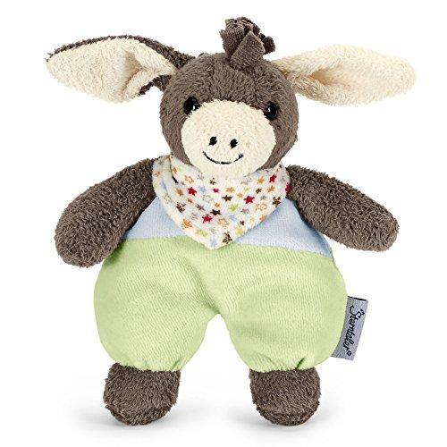 Sterntaler Mini-Spieltier Emmi, Integrierte Rassel, Alter: Für Babys ab der Geburt, 17 cm, Braun/Grün