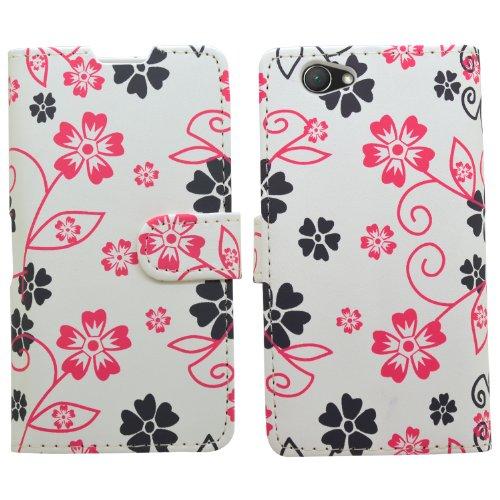 Samrick Ejecutivo Florales Especialmente Diseñado Cuero Suave Estuche Cartera y Tarjetero Con...