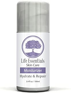 Moisturizer for Dry Skin - Hydrate & Repair - Best Cream with Jojoba Oil, Hyaluronic Acid, Aloe Vera & Green Tea - Lotion for Men, Women, Sensitive & Acne Prone Skin - 3.4oz Airless Applicator