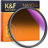 K&F Concept 58mm Filtro de Densidad Neutra Graduado Circular Suave ND8 (GND0.9, Transmitancia 12,5%, Reflectividad 1,5%) de Vidrio Schott Alemán con Nano-Revestimiento para Objetivo 58mm