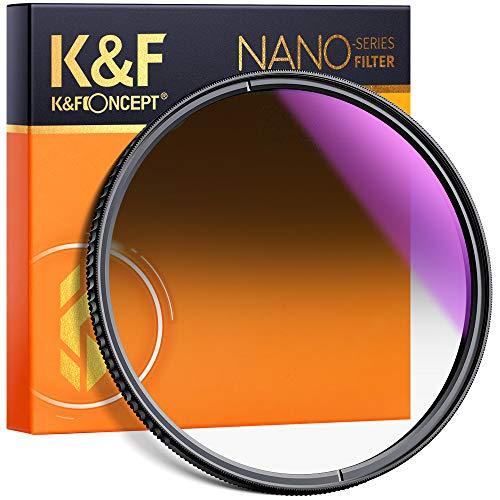 K&F Concept 77mm Soft GND8 Verlaufsfilter ND0,9(3 Stops,12,5{c7febfe944241953174b3c8dae84f4a2bf9745fb14a3bae170b610e50d2d7de5}) Grauverlaufsfilter GND8 Filter aus optisches Glas