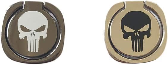 Creols Universal Phone Ring Stand Holder 360 Degree Finger Ring (Black Skull)