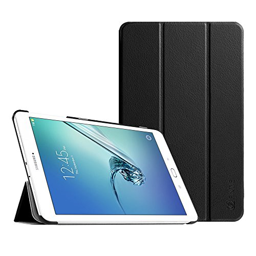Fintie Slim Case for Samsung Galaxy Tab E 9.6 - Ultra Lightweight Protective Stand Cover for Tab E Wi-Fi/Tab E Nook/Tab E Verizon 9.6-Inch Tablet (SM-T560/T561/T565/T567V), Black