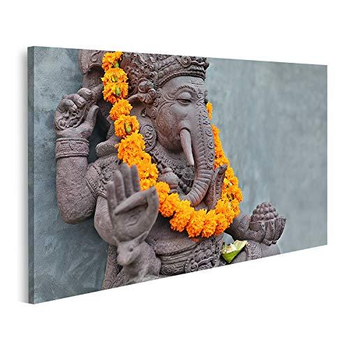 Cuadro en Lienzo Ganesha con máscaras Barong balinesas