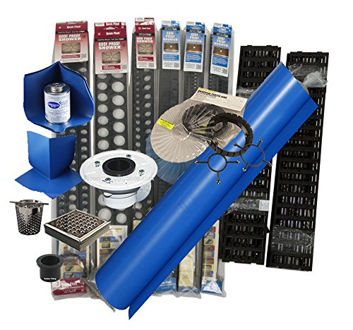 Composeal Shower System Complete Extra Large Kit incl Royal Square Drain and Quick Pitch System