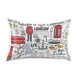 TropicalLife MeetuTrip - Fundas de almohada de satén con bandera del Reino Unido para piel de pelo, funda protectora de almohada con cierre de sobre para salón, sofá, hotel, cama, decoración