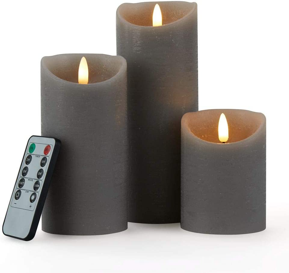 glowiu 3PK Flameless New products world's highest quality popular Candle At the price of surprise Realistic Battery LED Operated Wick