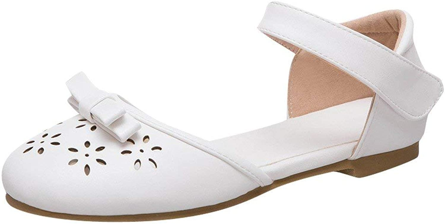 Ghapwe Women's Ankle Strap Bows Low Heel D'Orsay shoes Pink 8.5 M US