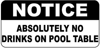 First Rober Notice Absolutely No Drinks On Pool Table Vintage Style Metal Sign 8