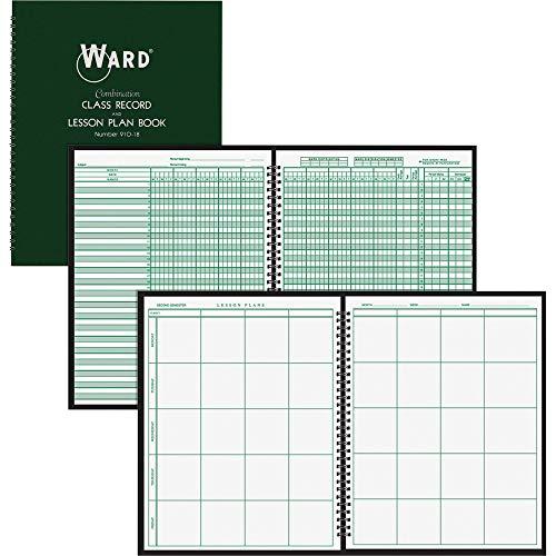 Ward Combo Teacher's Record/Planning Book, White, 11 x 8 1/2 (HUB91018 91018)