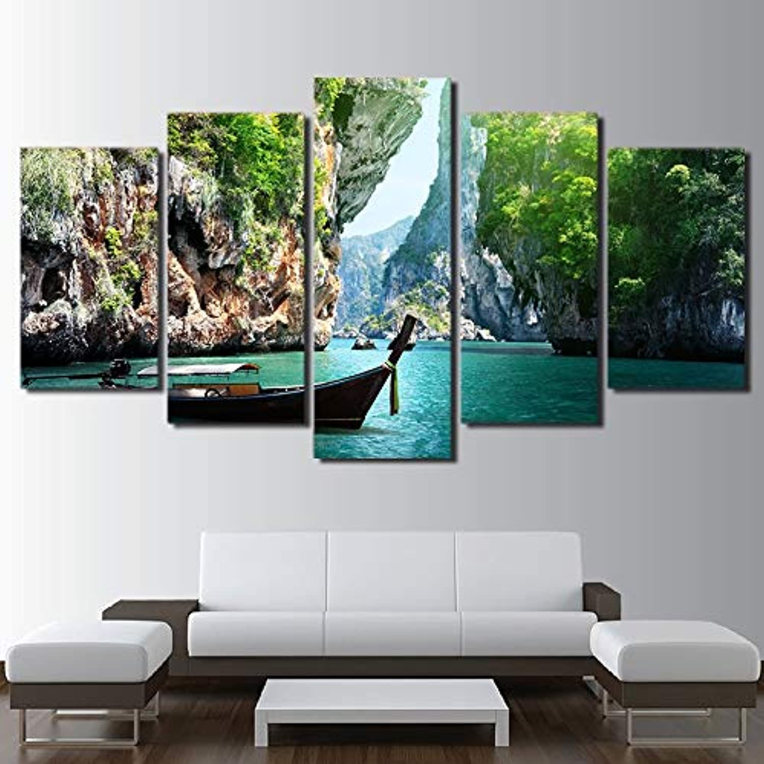 Living Room Modular HD Printed Canvas Photos 5 Piece Pcs Nature Canyon Landscape Framed Wall Art Painting Poster Home Decor