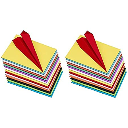 OFIXO 200 pcs (20 Sheet Each Color i.e. 20 * 10) Copy Printing Papers A4 Sheets Square Double Sided Colored Paper DIY Craft