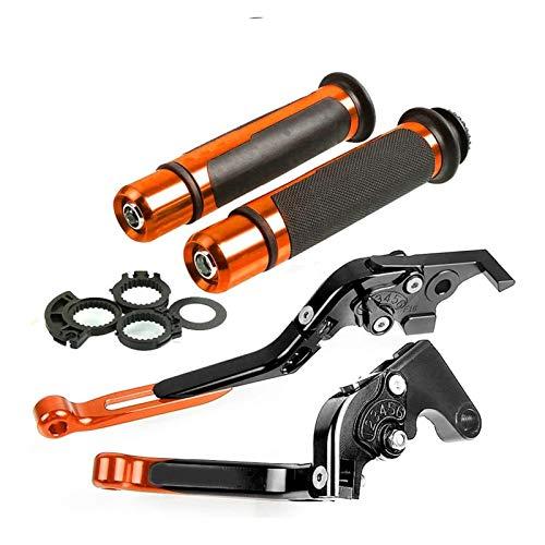 Parte Juego De Empuñaduras De Mano De Palanca De Embrague De Freno Plegable Ajustable CNC para Motocicleta para H-Onda CB599 para Hornet 1998-2006 Freno Embrague (Color : Orange Set 1)