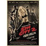 JQQBL Plakat Sin City Filmplakat Malerei Zeichnung