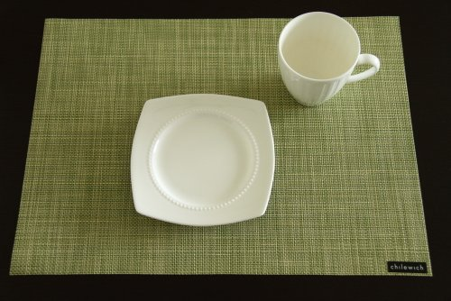 Chilewich Placemat Mini Basketweave Rectangle - Dill