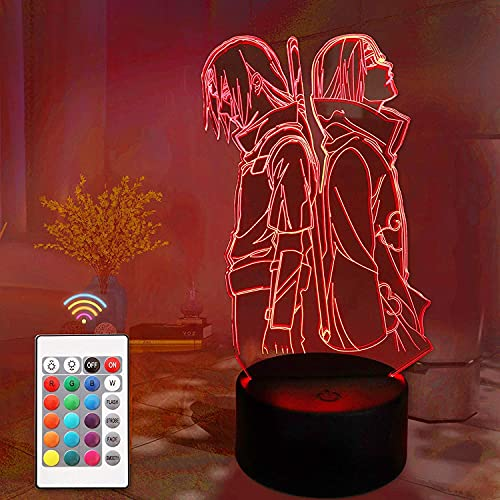 Anime Night Light Anime 3D Led Table Lamp USB Charge with Touch Switch for Kids Bedroom Party Decor Birthday Christmas Gift 16 Colors
