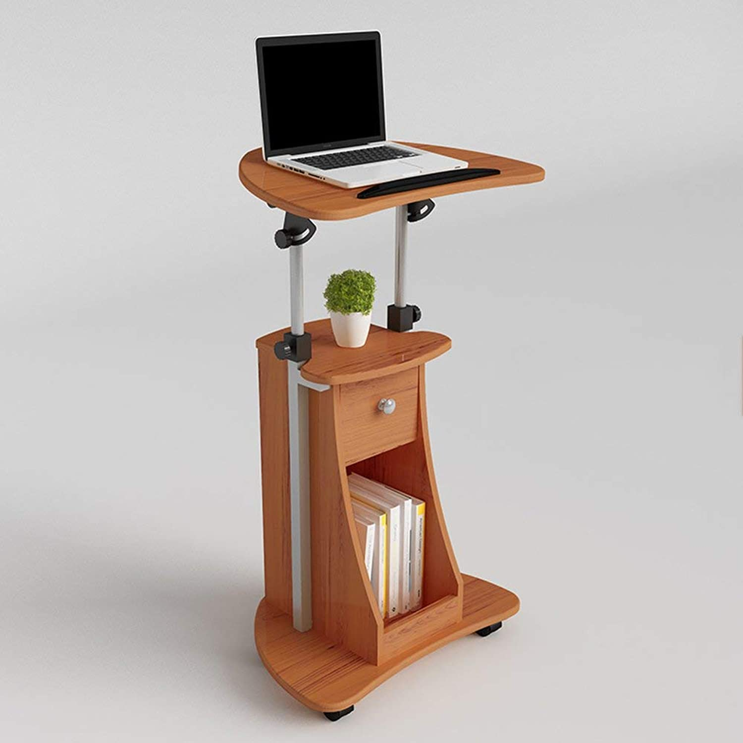 GUI Lazy Table Tables Mobile Desk Adjustable Height Laptop Household Lifting Folding Computer Desk Simple and Small Workbench Meeting Modern StandUp Desk Release The Spine Removable Laptop Desk
