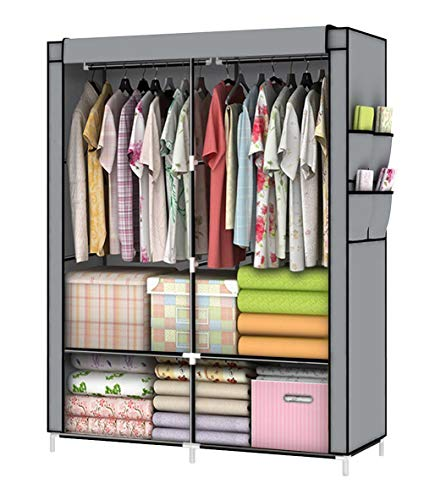 YOUUD Closet Portable Closet Organizer Portable Wardrobe Closet Clothes Closet Portable Closet Wardrobe Closet Organizer Closet Clothes Portable Clothes Closet Clothes Storage Organizer Gray