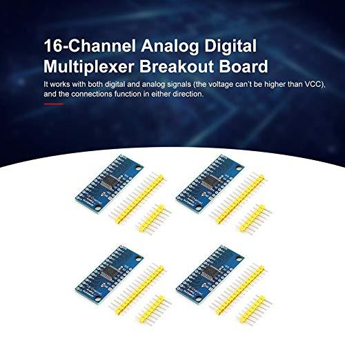 Jacobden 4Pcs High Speed 16CH Analog Digital Multiplexer Breakout-Brett-Modul CD74HC4067 CMOS Precise-Modul für Arduino