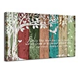 Vividhome Family Tree Canvas Wall Art Multicolor Tree Abstract Rustic Artwork Ready to Hang for Living Room Bedroom Home Decorations ,Wedding & Anniversary Gifts 24'x36'