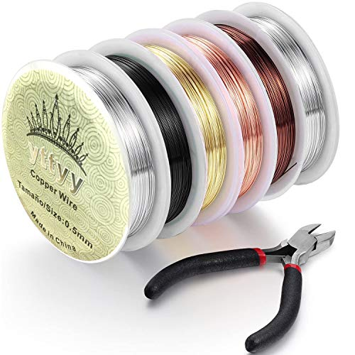 OTAOTP 0.5 mm x 120m Copper Wire,Jewelry Wire,Ring Wire,Craft Wire Jewelry...