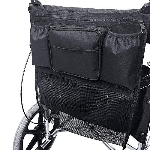 XJZHANG Sac pour Fauteuil Roulant Manuel Sac pour Fauteuil Roulant à L'arrière De La Chaise Sac Multifonction pour Convient Aux Personnes âgées Et Handicapées