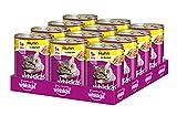 Whiskas 1 + Katzenfutter Huhn in Gelee, 12 Dosen (12 x 400 g)