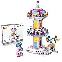DIY遊び場シリーズの建物のレンガセットナノマイクロミニブロックDIYパズル子供と大人のためのおもちゃ,Jumping machine