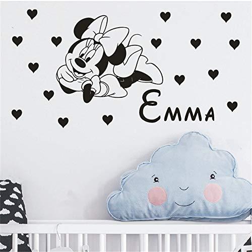 Sticker Mickey Mouse Nom personnalisé Art décoration de la maison autocollant bricolage mignon Mickey Mouse Minnie autocollant bébé personnalisé enfants nom
