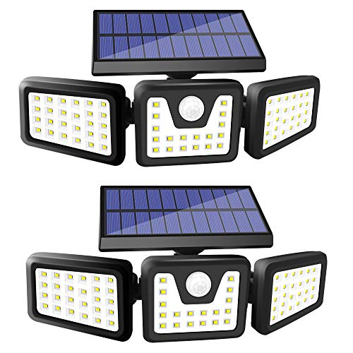 Solar Lights Outdoor, SONATA 100 LED Solar Motion Sensor Light Outdoor with 270° Wide Angle, IP65 Waterproof Super Bright Solar Flood Lights with 3 Lighting Modes for Front Door, Yard (XST-New)