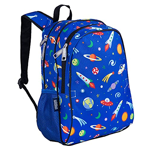 Wildkin 15 Inch Kids Backpack for Boys & Girls, 600-Denier Polyester Backpack for Kids, Features Padded Back & Adjustable Strap, Perfect for School & Travel Backpacks, BPA-free (Out of this World)
