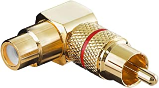 Adapter Cinch Stecker auf Cinch Kupplung (Gold)