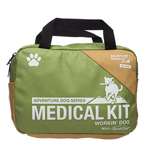 Adventure Medical Kits Workin#039 Dog Canine First Aid Kit with QuikClot