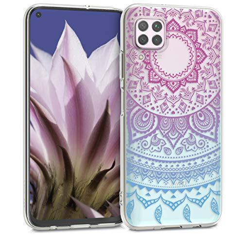 kwmobile Hülle kompatibel mit Huawei P40 Lite - Handyhülle - Handy Case Indische Sonne Blau Pink Transparent