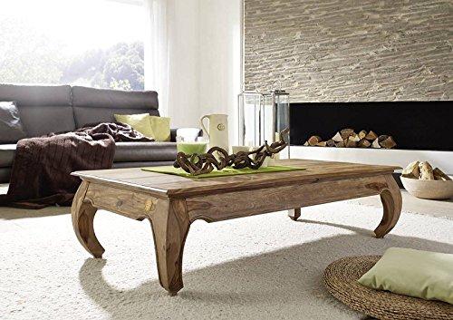 MASSIVMOEBEL24.DE Sheesham braun hell Massivmöbel Couchtisch 160x80 Palisander Holz massiv Möbel Opium #634