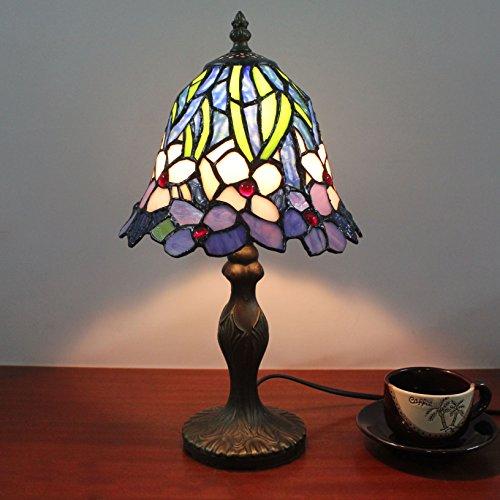 HDO 7 Zoll kleine Blumen Frühling Pastoral Tiffany Stil Tischlampe Nachttisch Lampe Schreibtisch Lampe Wohnzimmer Bar Lampe
