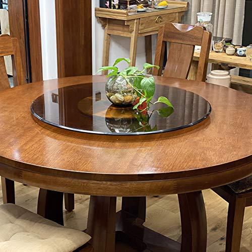 WQSQ Marrone Lazy Susan Vassoio Girevole Giradischi Rotante in Vetro Temperato Piatto da Portata Girevole Grande Piatto di Servizio per Tavolo da Pranzo 70cm