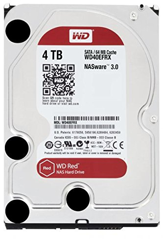 HD 3.5 4TB WD SATA RED NAS INTELLI POWER 64MB 6GB/S NAS STORAGE