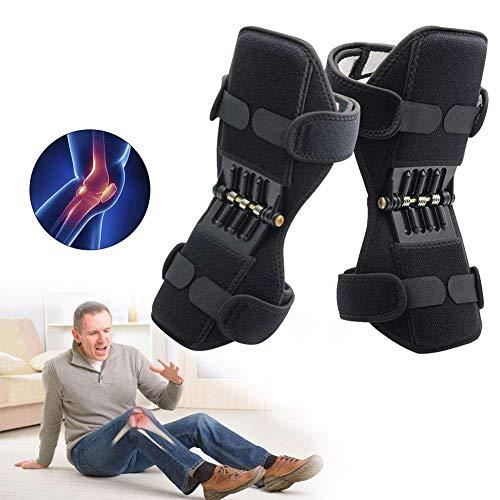Knie-Booster, Joint Support Knee Pads, Patella Booster, Gelenkstütze Knieschützer mit Kraftvolle Zugfeder für Arthritis Tendonitis Gym Workout - 1 Paar